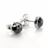 Black Diamond Rose Cut Earrings by belloria