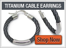 Black Titanium Cable Collection Earrings