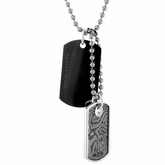 Black Titanium & Timoku Dog Tags by Edward Mirell