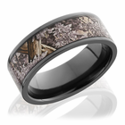 Black Zirconium Ring With Kings Desert Camo by Lashbrook