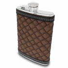 Brown Weaved Leather Flask