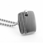 CLARION Black Diamond Dog Tag Necklace by TRITON