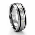CLARION Triton Tungsten and Diamond Ring