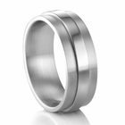 COGE 8mm Raised Center Palladium Wedding Band