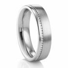 COGE Palladium & Diamond Wedding Band
