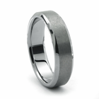 CORSA Tungsten Wedding Band by Heavy Stone Rings