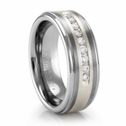 Covington TRITON Tungsten Ring with Channel Set Diamonds