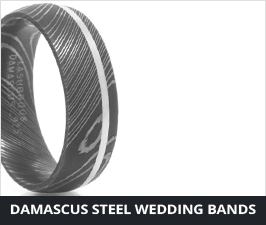 Damascus Steel Wedding Bands