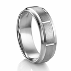 Dimensional Design Palladium Wedding Band by Diana Classic®