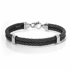 Double Black Titanium Cable Bracelet