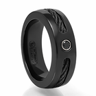 Edward Mirell Black Cable and Black Spinel Ring