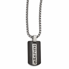 Edward Mirell Black Titanium Cobblestone Dogtag Necklace