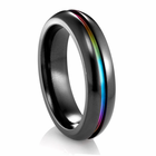 EDWARD MIRELL Black Titanium Rainbow Ring
