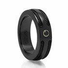 Edward Mirell Double Black Cable and Black Spinel Ring