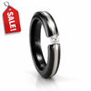 EDWARD MIRELL Ladies Black Titanium, 18K  & Diamond Ring