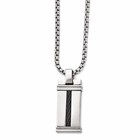 Edward Mirell Polished Titanium Necklace with Black Titanium Memory Cable