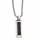 Edward Mirell Stainless Steel Necklace with Black Titanium Cables