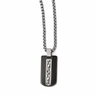 Edward Mirell Black Titanium Dogtag Necklace- THORN