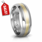EDWARD MIRELL Titanium & Gold Wedding Band