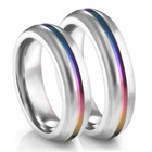 EDWARD MIRELL Titanium Rainbow Ring - Set
