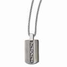 Edward Mirell Gray Titanium Tribal Dogtag Necklace
