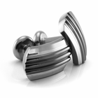 Edward Mirell TRIO Black and Grey Titanium Cufflinks