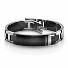 Edward Mirell WELLINGTON Black Titanium and Sterling Silver Bracelet