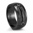 EM SPORT Ring - Black Titanium Cable & Black Spinel