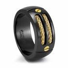 EM SPORT Ring - Midnight Black & 14K Gold Ring