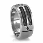 EM Sport Ring - Titanium, Black Titanium & Black Spinel Ring