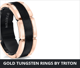 Gold Tungsten Rings by Triton