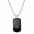 HERITAGE Black & Grey Titanium Dog Tags by Edward Mirell