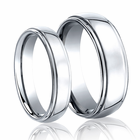 His and Hers Cobalt Wedding Band Set by Benchmark