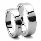His and Hers PIATTO Tungsten Wedding Ring Set