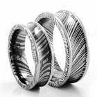 His and Hers Timoku Wedding Band Set by Edward Mirell