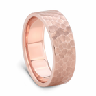 J.R. YATES 14K Rose Gold Hammer Finish Band