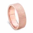 J.R. YATES 14K ROSE GOLD TREE BARK BAND