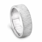 J.R. YATES Palladium Wedding Band - Tree Bark