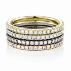 Ladies 14K Gold & Diamond Stackable Bands - SET of 4 by Belloria