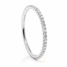 Ladies 14K White Gold & Eternity Diamond Wedding Band by Belloria