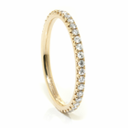 Ladies 14K Yellow Gold & Diamond Wedding Band by Belloria