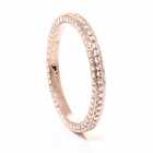 Ladies 18K Rose Gold Diamond Eternity Wedding Band by Belloria