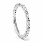 Ladies 18K White Gold & Diamond Wedding Band by Belloria