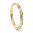 Ladies 18K Yellow Gold Diamond Eternity Wedding Band by Belloria