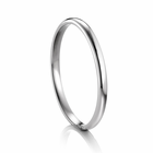 Ladies 2mm ARTCARVED  Palladium Wedding Band