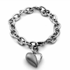 Ladies Titanium Heart Bracelet