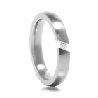 Ladies Titanium Ring with Tension Set Diamond
