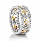 Beverley K 18K White & Yellow Gold Diamond Band