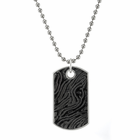 Large Timoku Titanium Dog Tag by Edward Mirell