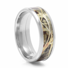 LASHBROOK DESIGNS Cobalt & Camouflage Wedding Band Moss